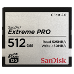 SANDISK 512GB EXTREME PRO CFAST 2.0 MEMORY CARD (525MB/SEC)