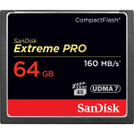 SANDISK EXTREME PRO 64GB COMPACT FLASH 160MB/S