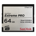 SANDISK 64GB EXTREME PRO CFAST 2.0 MEMORY CARD (525MB/SEC)