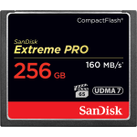 SANDISK EXTREME PRO 256GB COMPACT FLASH 160MB/S