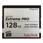 SANDISK 128GB EXTREME PRO CFAST 2.0 MEMORY CARD (525MB/SEC)